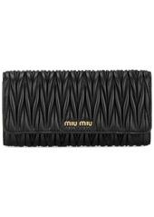 Miu Miu matelassé leather wallet