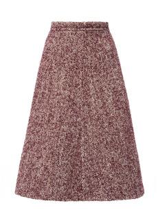 Miu Miu - Women's Bouclé-Tweed Skirt - Purple/grey - Moda Operandi