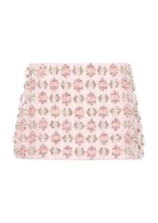 Miu Miu - Women's Embroidered Mini Skirt - Pink/orange - Moda Operandi