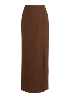 Miu Miu - Women's High-Rise Wool Maxi Skirt - Neutral/brown - Moda Operandi