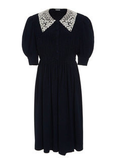 Miu Miu - Women's Lace Collar Dress - Black - Moda Operandi