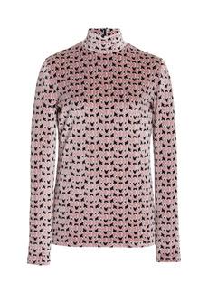 Miu Miu - Women's Monogrammed Knit Turtleneck Top - Multi - Moda Operandi