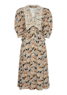 Miu Miu - Women's Printed Collared Dress - Print - Moda Operandi
