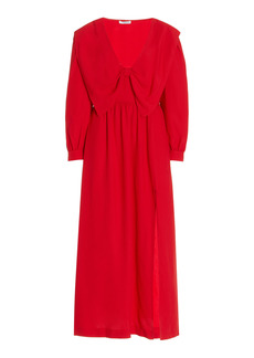 Miu Miu - Women's Satin Sable Dress - Red - Moda Operandi