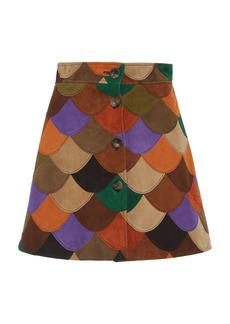 Miu Miu - Women's Scalloped Patchwork Skirt - Multi - Moda Operandi