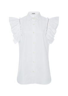 Miu Miu - Women's Sleeveless Crepe Top - White - Moda Operandi