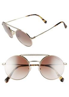 Miu Miu 50mm Round Crystal Embellished Aviator Sunglasses
