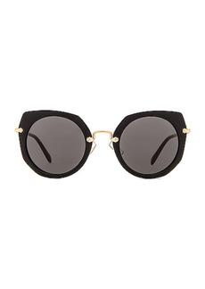 Miu Miu Acetate Angular Sunglasses