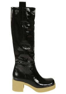 Miu Miu Glossy Over-the-knee Boots