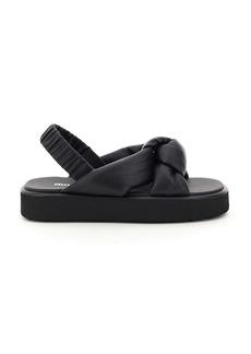 Miu Miu Padded Nappa Sandals