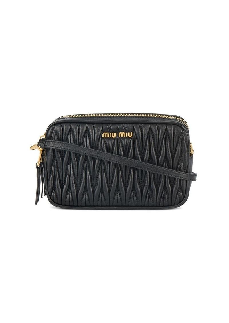Miu Miu mini matelassé crossbody bag