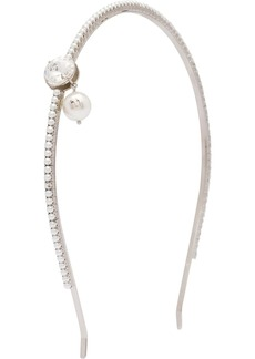 Miu Miu Solitaire Jewels crystal and pearl-embellished hairband