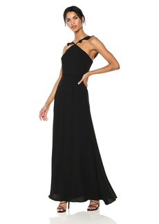 ML Monique Lhuillier Women's Long Crepe Gown