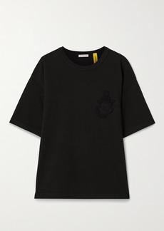 Moncler 1 Jw Anderson Oversized Appliquéd Cotton-jersey T-shirt