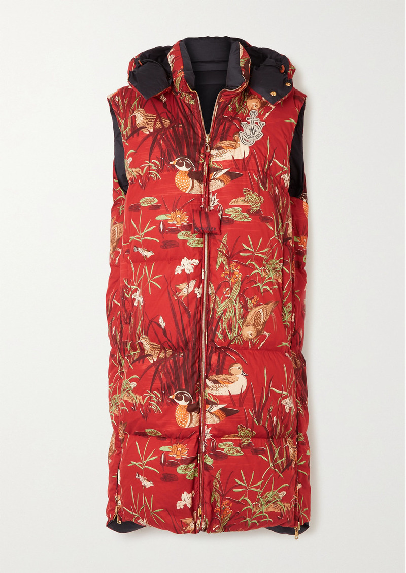 Moncler 1 Jw Anderson Battersea Printed Cotton-shell Vest