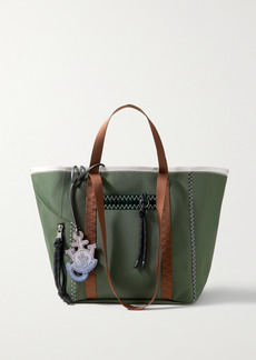 Moncler 1 Jw Anderson Grosgrain, Pvc And Felt-trimmed Canvas Tote
