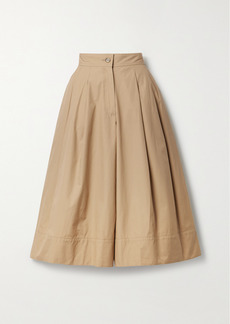 Moncler 1 Jw Anderson Pleated Cotton-twill Culottes