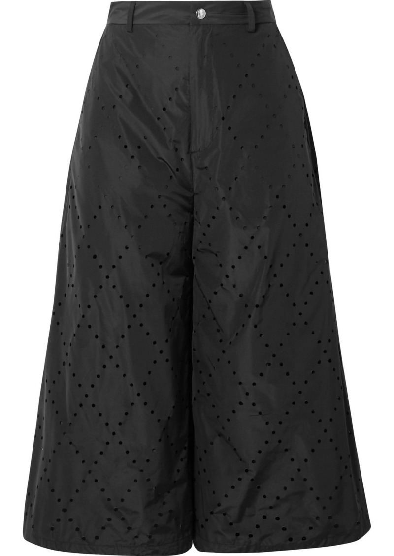Moncler 6 Noir Kei Ninomiya Perforated Shell Culottes