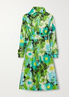 Moncler 8 Richard Quinn Charlie Crystal-embellished Floral-print Glossed-cotton Trench Coat