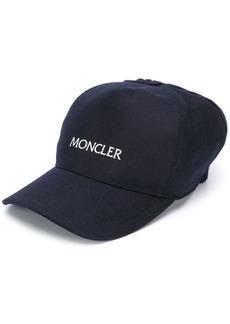 Moncler embroidered logo knit detail cap