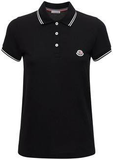 Moncler Logo Piqué Polo Shirt