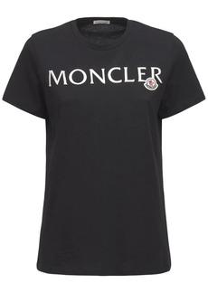 Moncler Logo Printed Cotton Jersey T-shirt