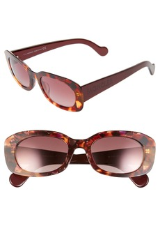 Moncler 52mm Oval Sunglasses