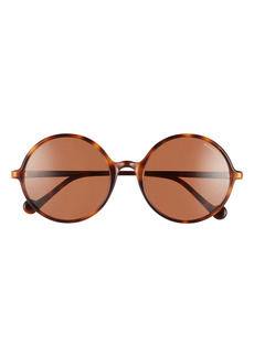 Moncler 57mm Round Sunglasses