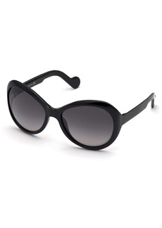 Moncler 60mm Oversize Round Sunglasses