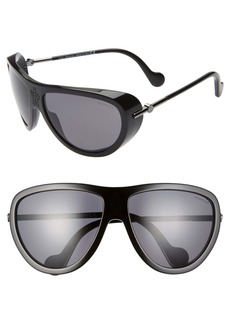 Moncler 61mm Polarized Aviator Sunglasses