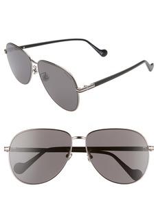 Moncler 63mm Oversize Aviator Sunglasses