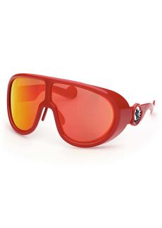 Moncler 73mm Oversize Shield Sunglasses