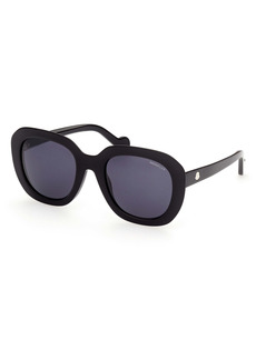 Moncler Core 52mm Round Sunglasses