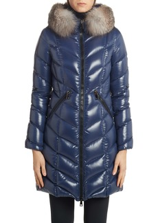Moncler Fulmarus Quilted Down Puffer Coat with Removable Genuine Fox Fur Trim