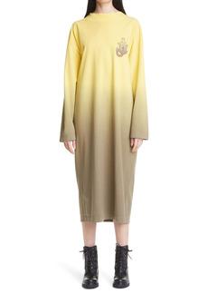Moncler Genius 1 Moncler JW Anderson Dégradé Dip Dye Long Sleeve Dress