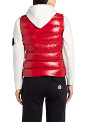 Moncler Ghany Short Shiny Nylon Down Vest