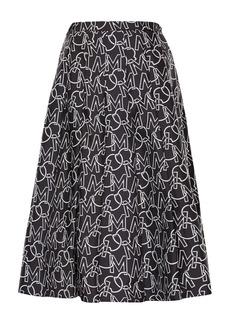 Moncler Logo Pleated Skirt