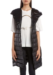 Moncler Noisette Long Quilted Down Puffer Vest