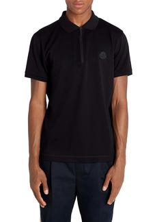 Moncler Short Sleeve Zip Piqué Polo