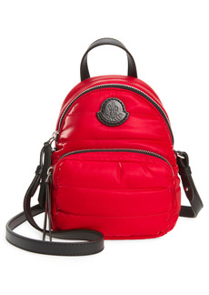 Moncler Small Kilia Quilted Crossbody Backpack - Red