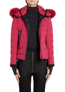 Women's Moncler Lamoura Waterproof Quilted Down Puffer Coat With Removable Genuine Fox Fur Trim