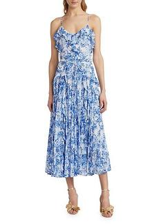 Monique Lhuillier Ruffle Mid-Length Dress