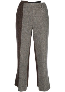 Monse two-tone herringbone slim-fit trousers