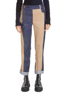 Monse Patchwork Denim Cuff Pants
