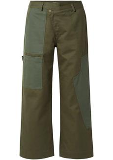 Monse Woman Cotton-drill Wide-leg Pants Army Green