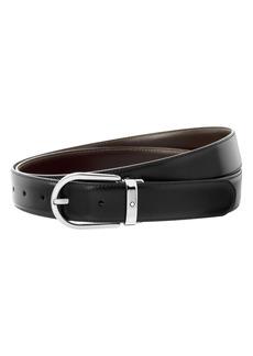 Montblanc Horshe Buckle Reversible Leather Belt
