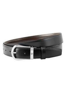Montblanc Horsheshoe Buckle Reversible Leather Belt