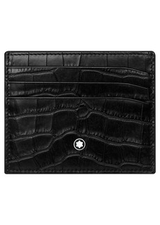 Montblanc Meisterstuck Croc Embossed Leather Wallet
