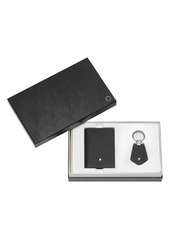 Montblanc Textured Leather Business Card Holder & Key Fob Set