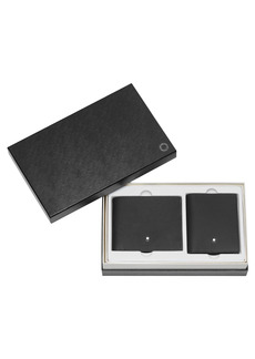 Montblanc Textured Leather Wallet & Business Card Holder Gift Set